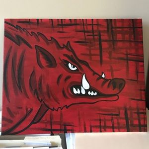 Other - Arkansas Razorbacks painting!!!